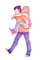 Piggyback ride by Lilami