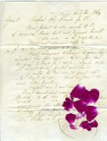 Scanned vin letter,petal stock by rustymermaid-stock