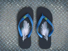 flip flop feather by Titareco
