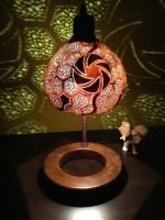 Gourd Standing Lamp I by gourdlight