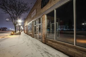 Snow Covered Storefront by mattjohnsn