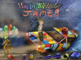 Happy Birthday James  by LindArtz