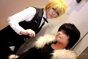 Shizuo and Izaya by AoiGetsueiAwai