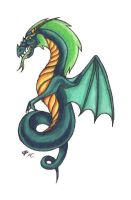 Doodle dragon 2 by Skychaser