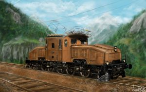 SBB Ce 6/8 II 'Crocodile' by incomitatus3