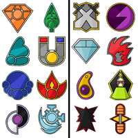 Gym Badges by ryugaxryoga