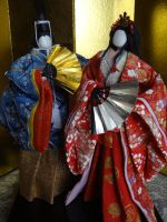Japanese paper Hina doll by Japanesepaperdoll