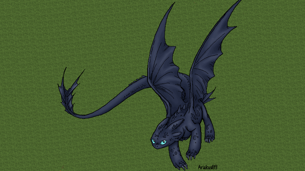 Minecraft Toothless + Timelapse by Ariakus89