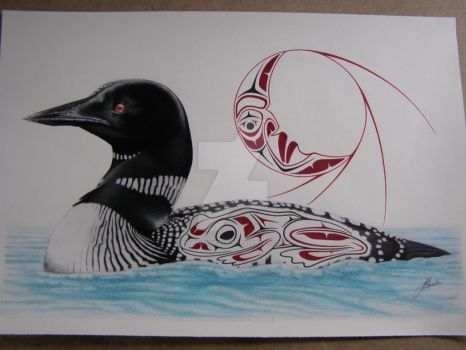 Loon, Frog design, Moon design by Towinckdesigns