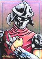 Shredder sketch card by JLWarner