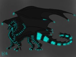 Megadragon color test -turquoise only- by ShardianofWhiteFire