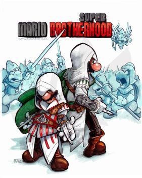 Super Mario Brotherhood by weremagnus