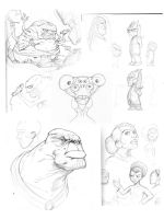 Character sketch dump by BrattyBen