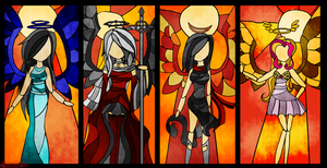 Stained Glass of Four by zecchou