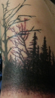 Black Forest tattoo (wip part 1) by Dranlu