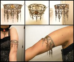 Steampunk Armlet by Meowchee
