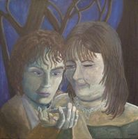 Painting of Frodo and Geneve by callmezippy