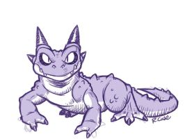 Spikey Lizard by rongs1234