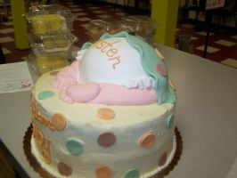 Baby Butt Cake side view by perpetuousdreemr