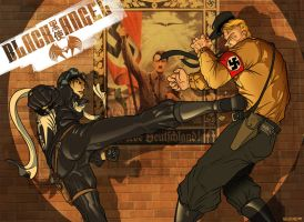 REMAKE: BLACK ANGEL Nazi Fight by PaulSizer