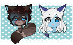 Chibi Blue and Eir extra by XMireille-chanX