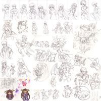 Long overdue sketch dump by Ugh-first-aid