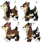 xXxSplatterWolf27xXx Pups by Dandilion-Kennels