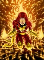 Dark Phoenix Rising by HarryBuddhaPalm