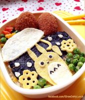 Totoro in the Rain lunch box by loveewa