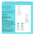 Commission sheet by Kordcros