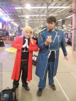Supanova 2013 - Edward Elric and Roy Mustang by fulldancer-alchemist