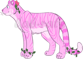 $7/700pts Strawberry Tiger Adoptable [OPEN] by lab-rats