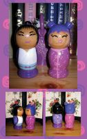 Kokeshi: Berry Smoothie couple by broom-rider