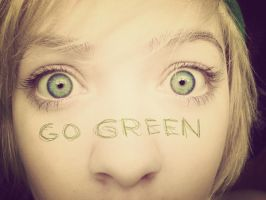 Go green by cookiemonstah