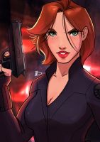 Black Widow 2016 Sketchcard by Future-Infinity
