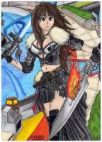 Squall Leonhart girl -Final fantasy VIII- by raptorthekiller