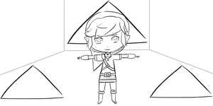 Link and the Triforce :lineart: by ssbbgamergirl