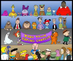Toon Town Eating Contest by Lordwormm