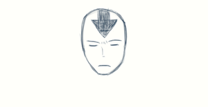 Aang Sketch with dA Muro by LostTotheHoping