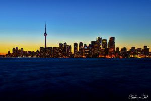 Sunset at Toronto by WorldsInWorld