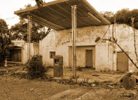 Old Gas Station by IvaSan
