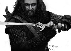 The Hobbit / Thorin by jasonbrian007