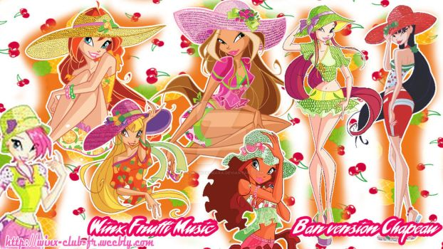 Wallpaper Winx Frutti Music Bar version chapeau by FashionZambara