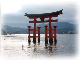 The Otorii of Miyajima by megaraliancourt