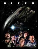 Alien Painted Poster by Kevin-Allen