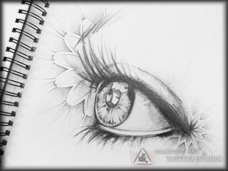 Tattoo Zanda Eye Sketch Riga Sstudio Collective Ar by collectivearttattoo