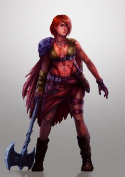 Female Warrior by gerokun