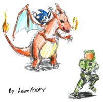 Sonic Charizard vs Halo by AnimePOOPY