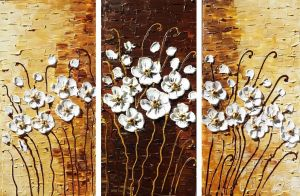 Modern Meadow Triptych by Kasia1989