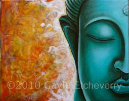 Aqua Buddha by GaylesPaintings
